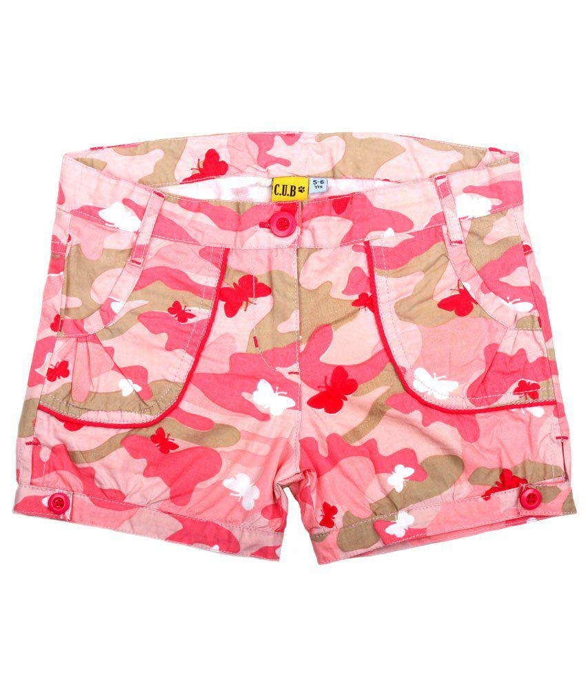 C.U.B Pink Shorts For Girls
