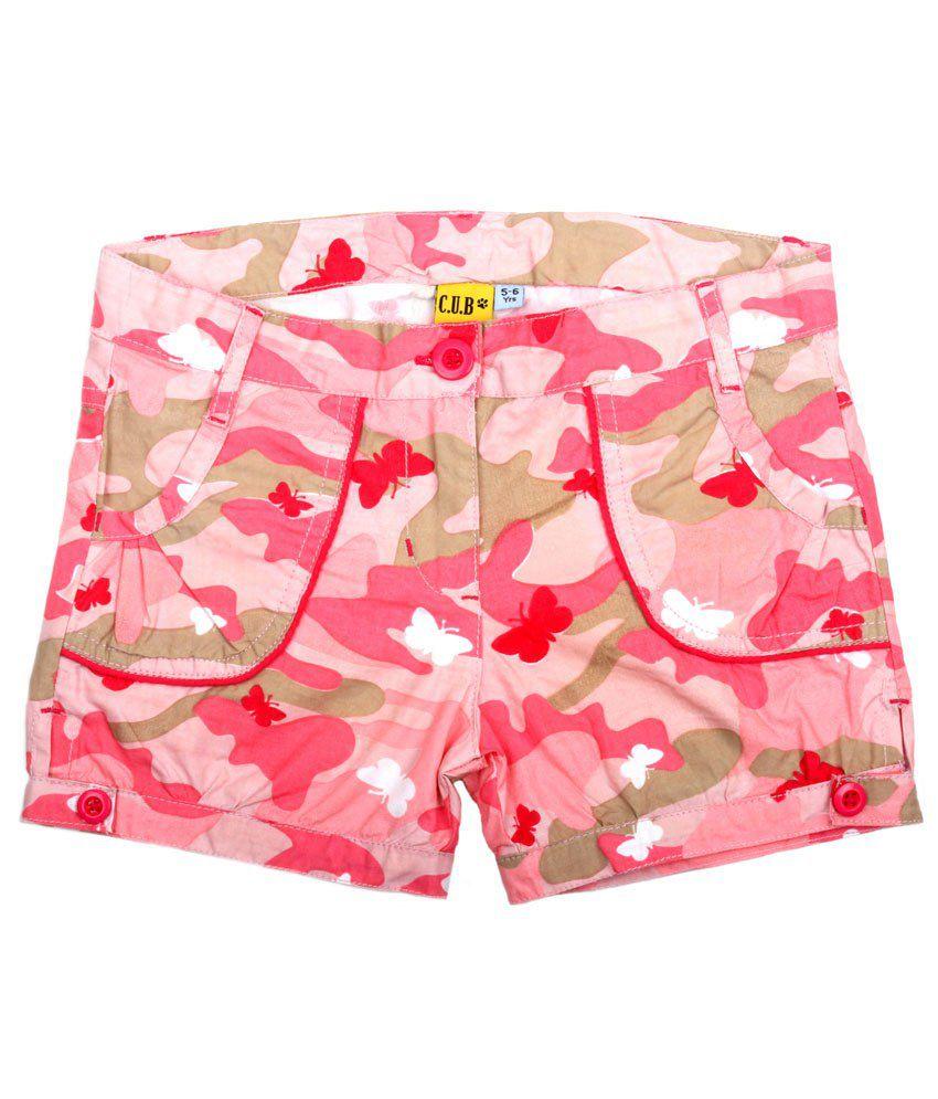C.U.B Pink Shorts For Girls