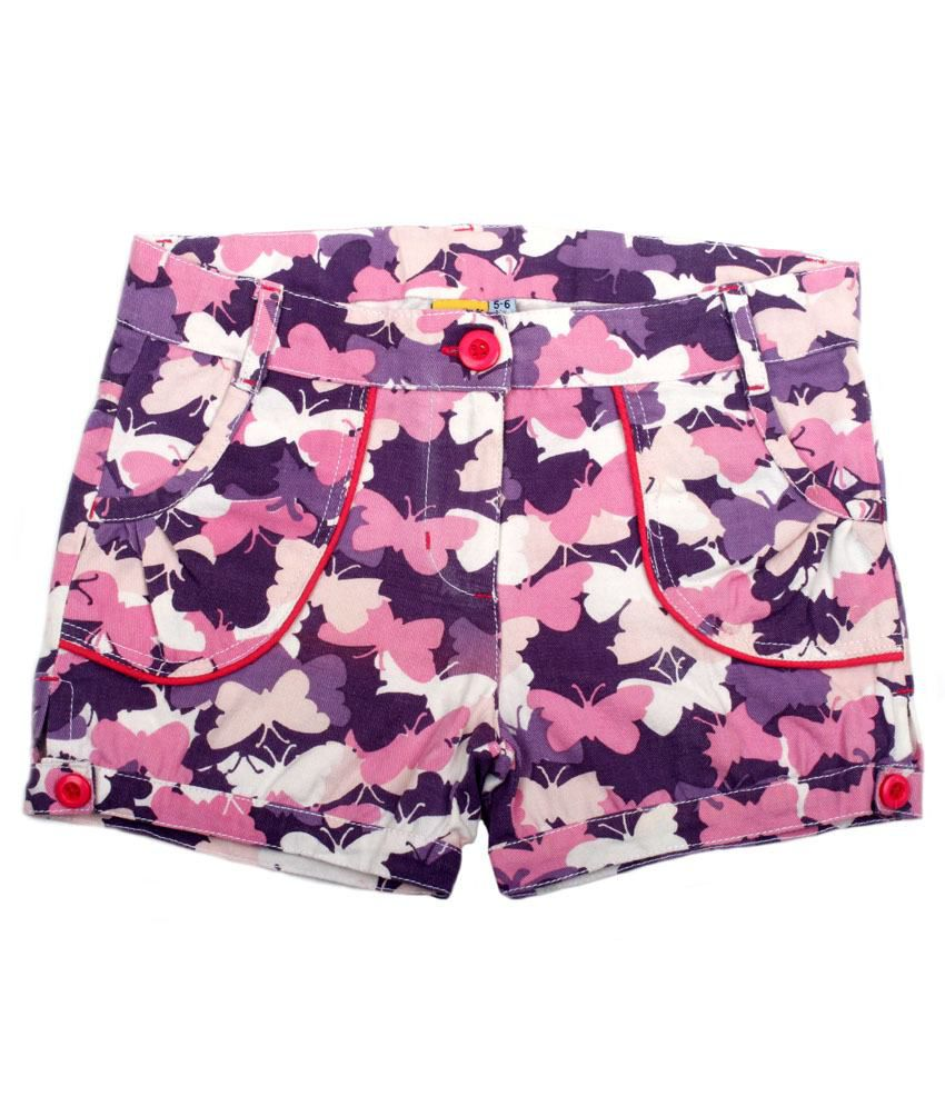 C.U.B Purple Shorts For Girls
