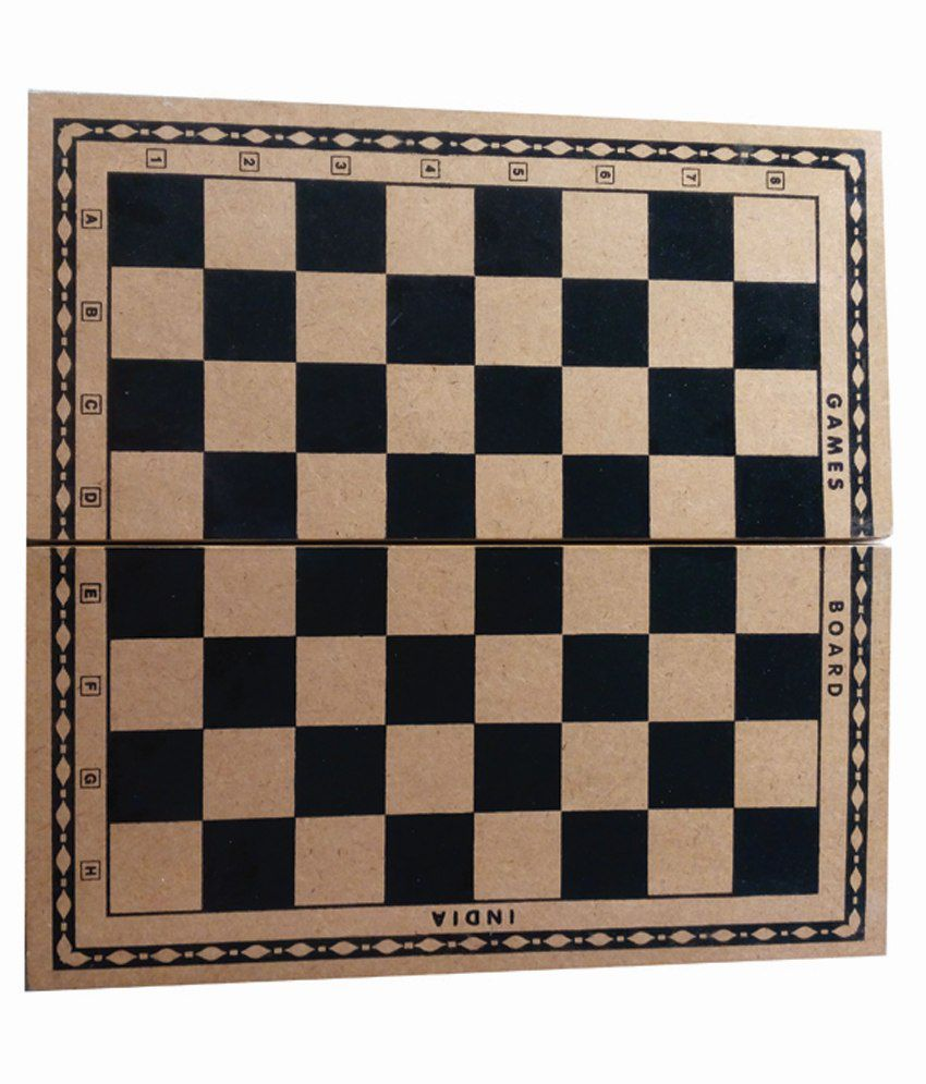 Games Board Yellow Wooden Chess Board