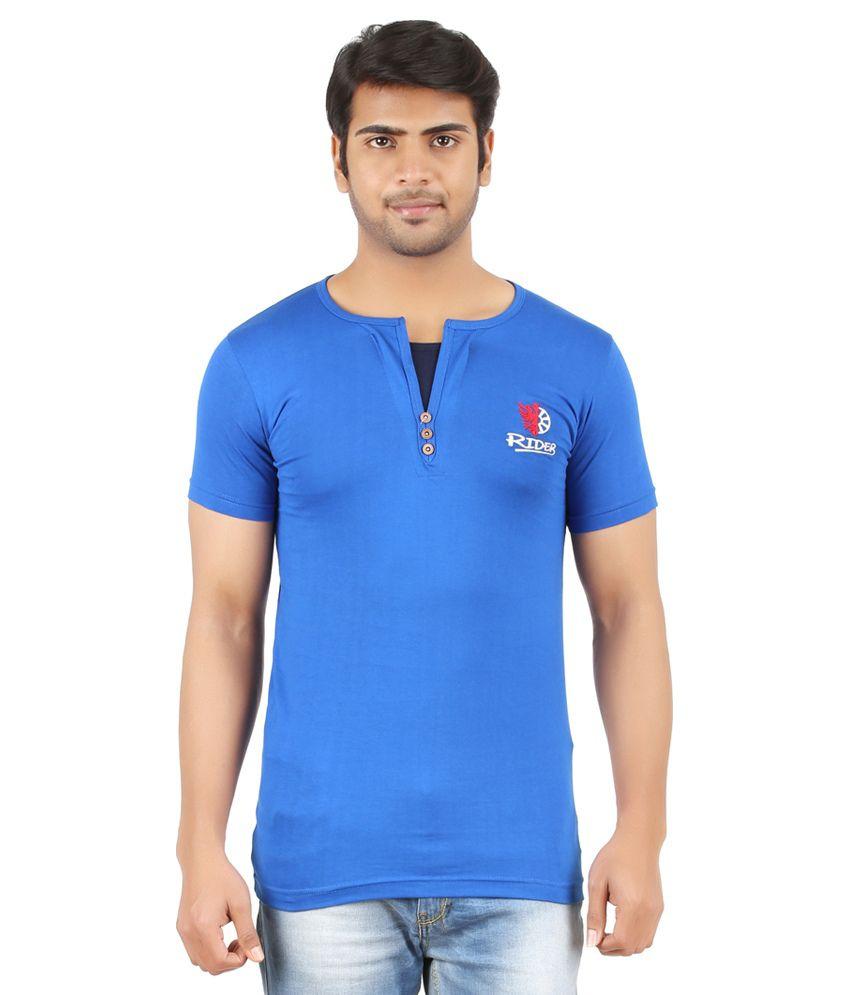 Togs Blue Cotton T-shirt