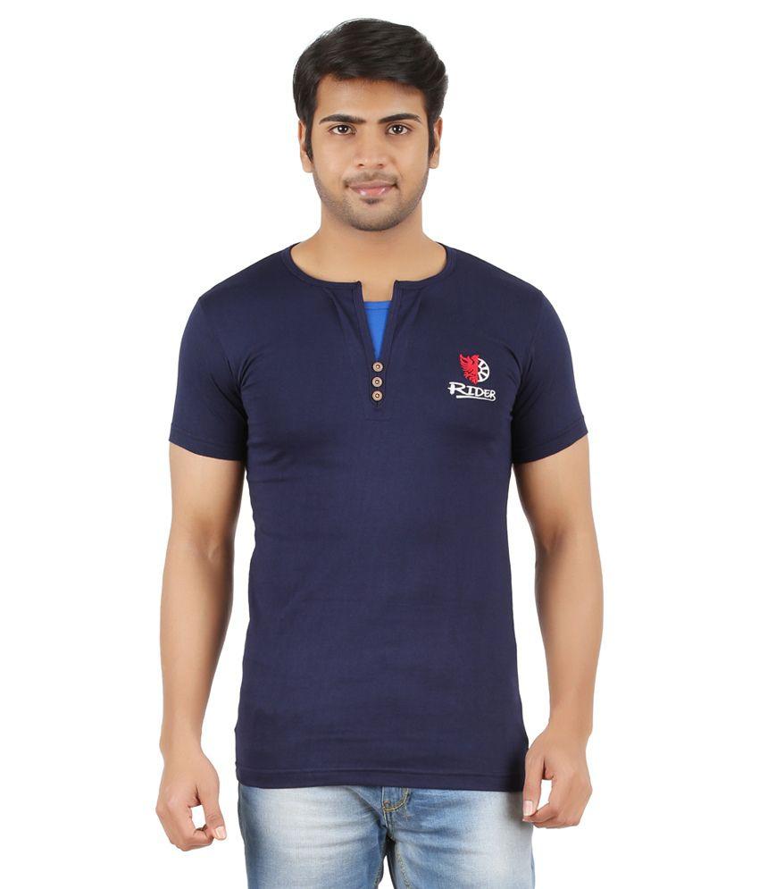 Togs Navy Cotton T-shirt