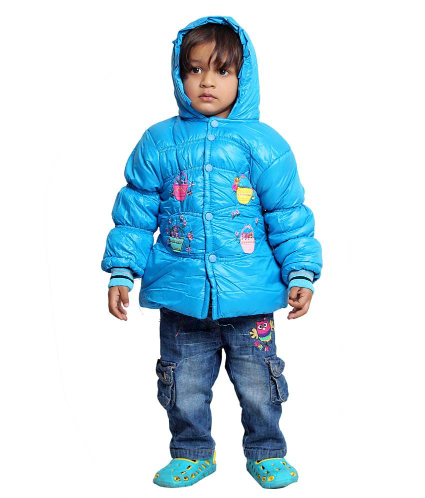 Tiny Toon Blue Quilted & Bomber For Girls