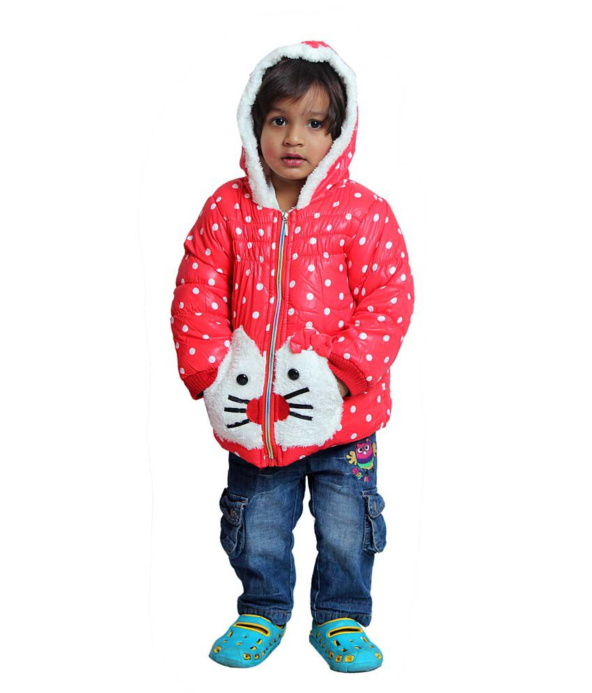 Tiny Toon Maroon Quilted & Bomber For Girls