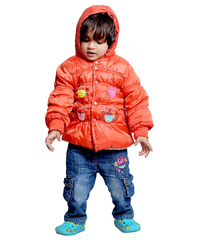 Tiny Toon Orange Quilted & Bomber For Girls