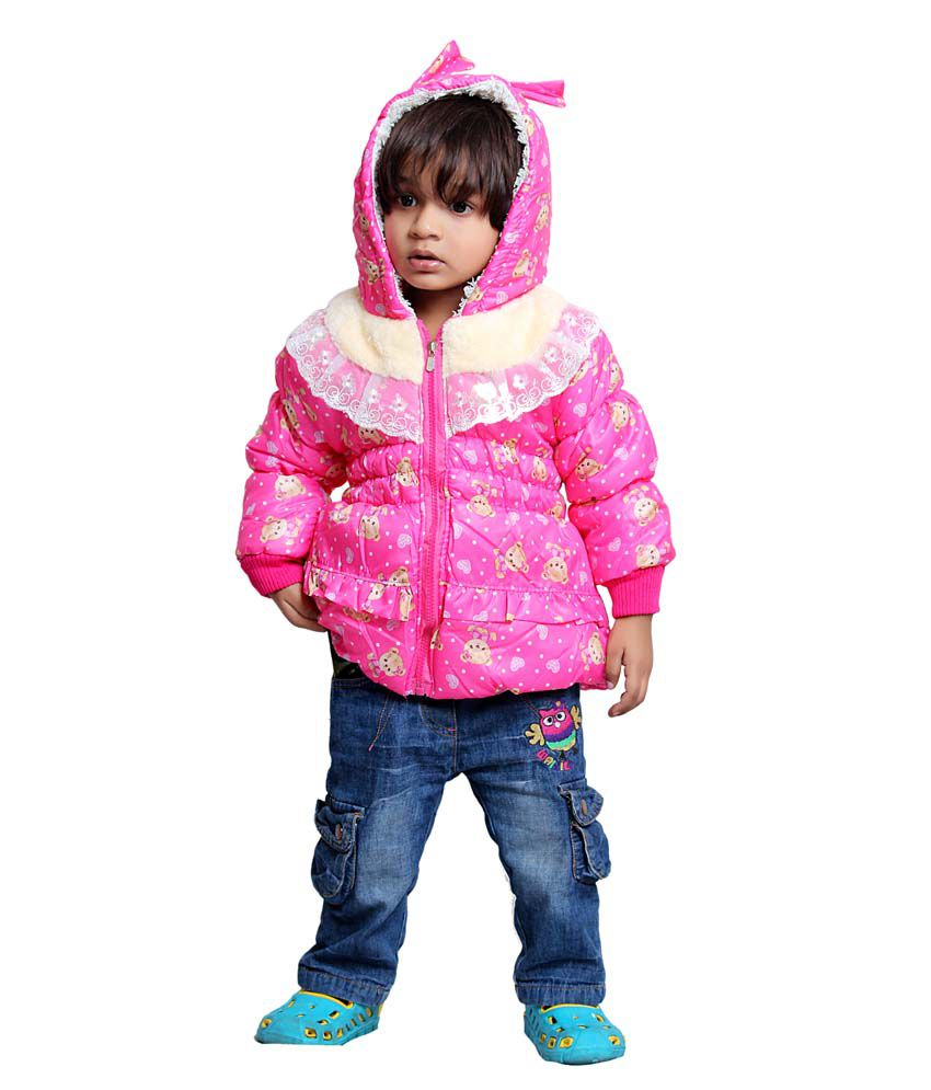 Tiny Toon Pink Quilted & Bomber For Girls