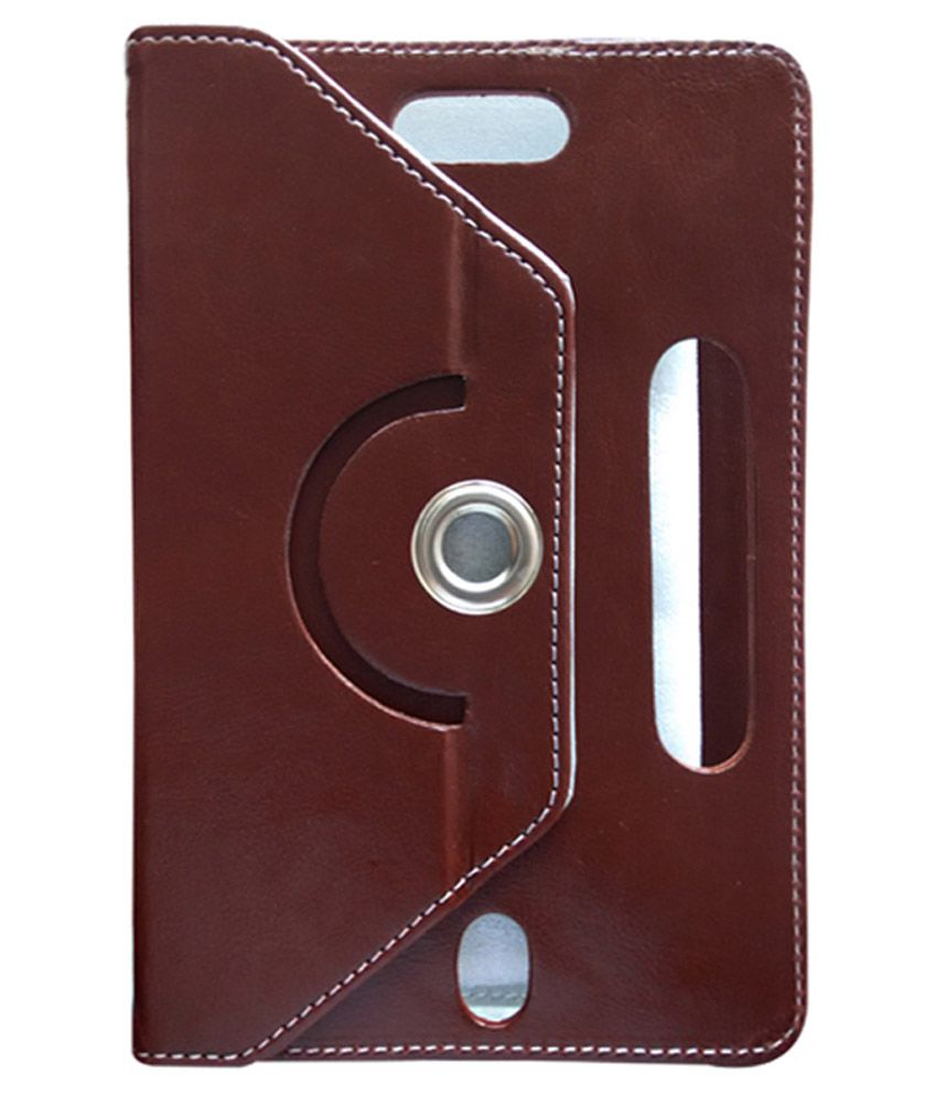 Fastway Flip Cover For Lenvo A7-50 - Brown