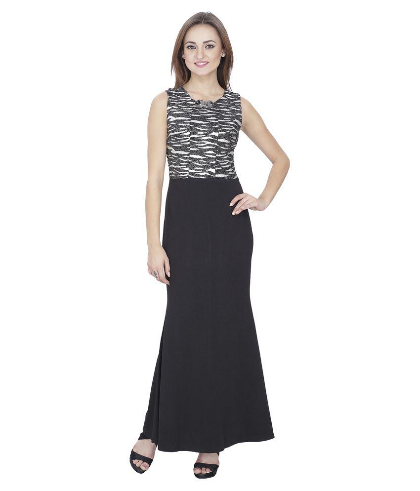 SVT Black Others Maxi Dress