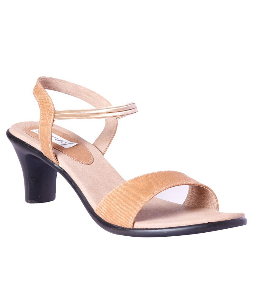Pantof Beige Heeled Sandals