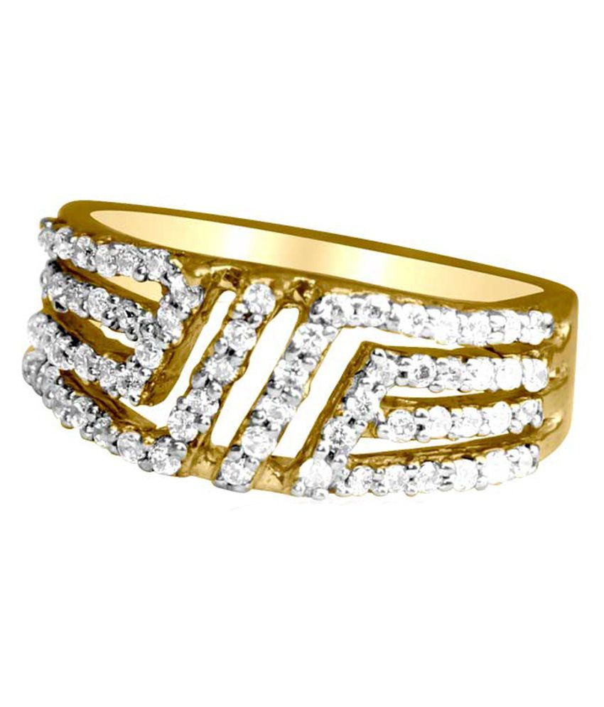 Gvj 18kt Gold Cubic Zirconia Ring
