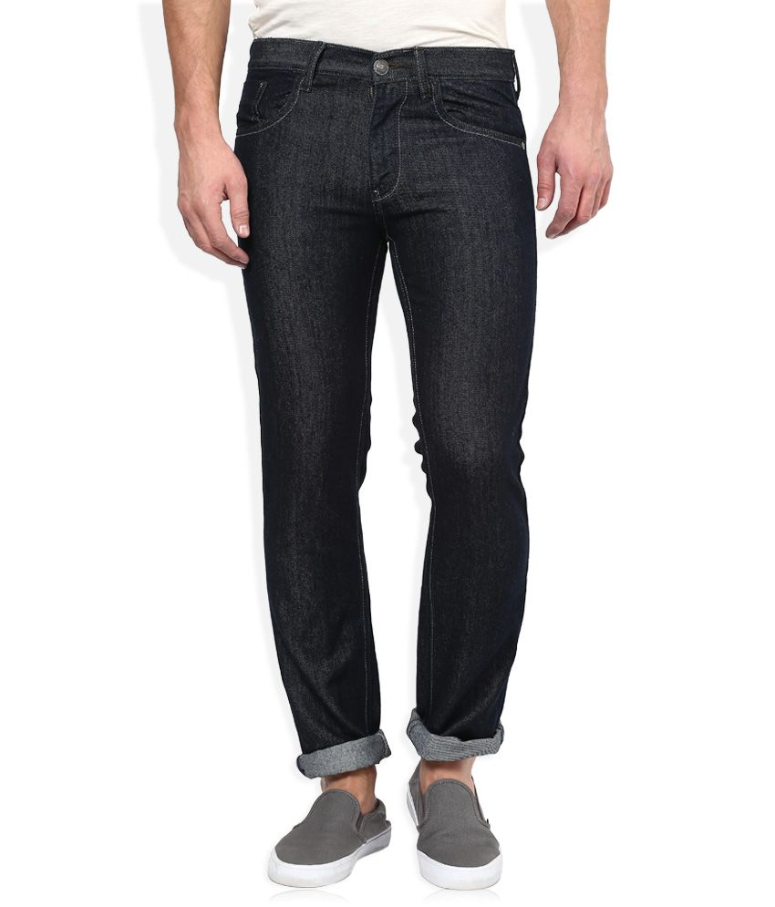 Newport Black Raw Denim Regular Fit Jeans