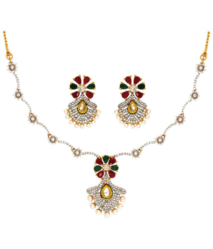 line green maroon s com id necklace img view zipker product catalog kundan set