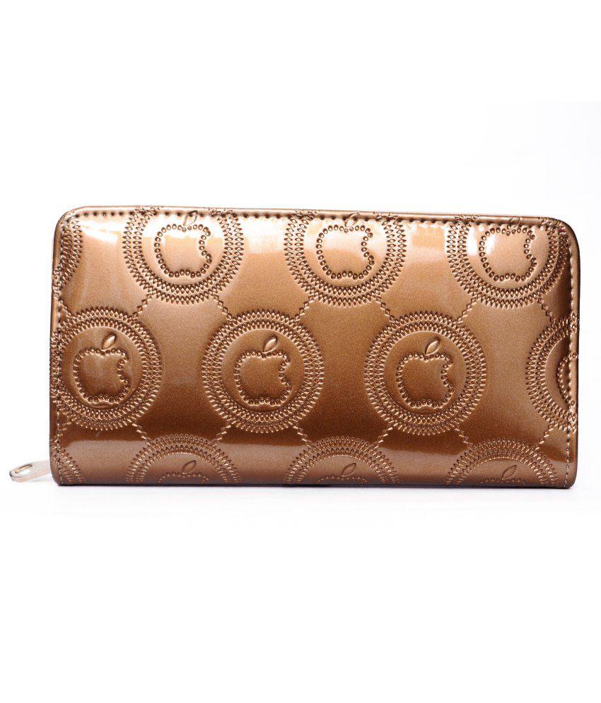 Surhome Golden Non Leather Regular Wallet