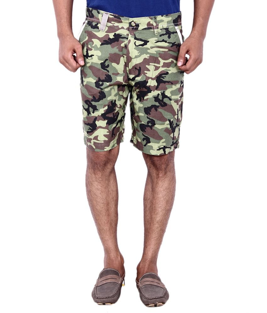 Calloway Multicolor Cotton Solid Shorts