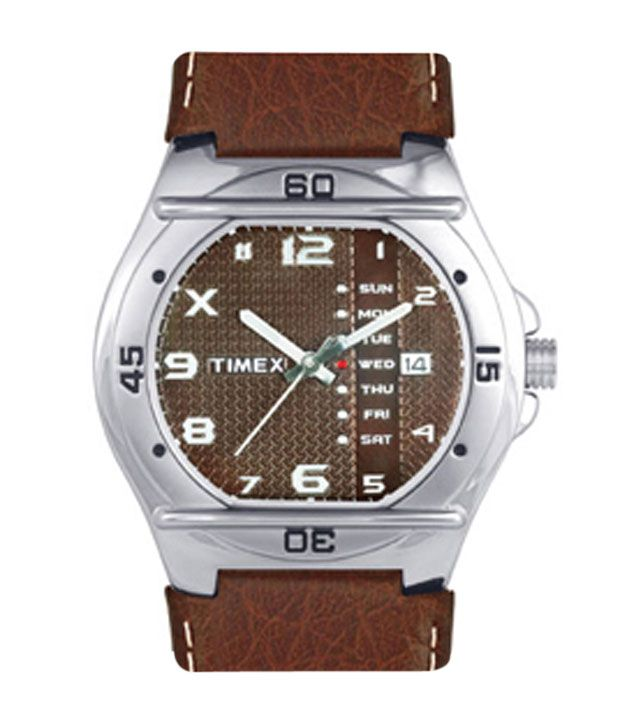 Timex Brown Analogue Wrist Watch for Men