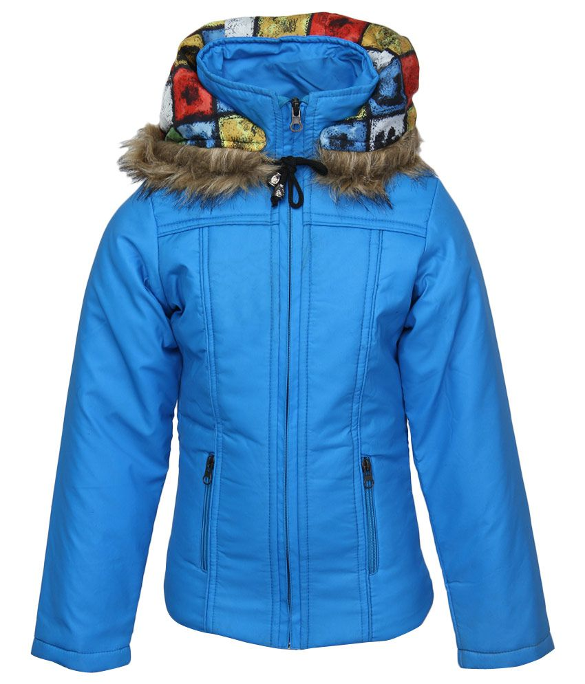 Fort Collins Blue Nylon Hooded Jacket