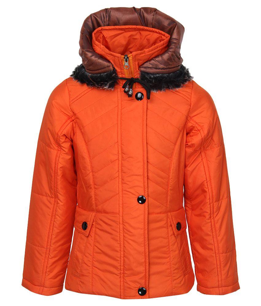 Fort Collins Orange Nylon Hooded Jacket