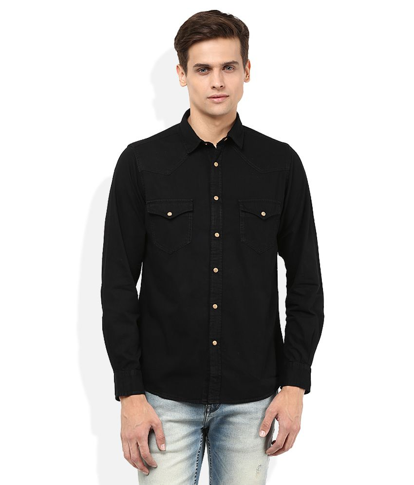 Pepe Jeans Black Solid Shirt