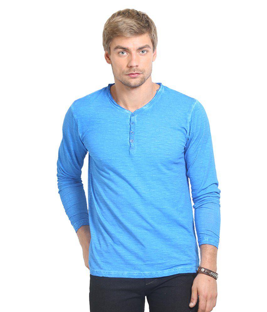 Thisrupt Blue Cotton T-Shirt