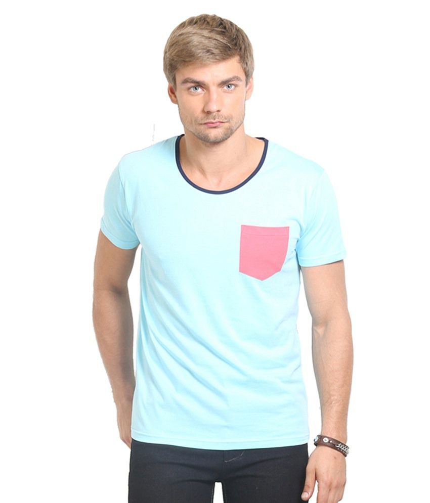 Thisrupt Blue & Red Cotton T-Shirt