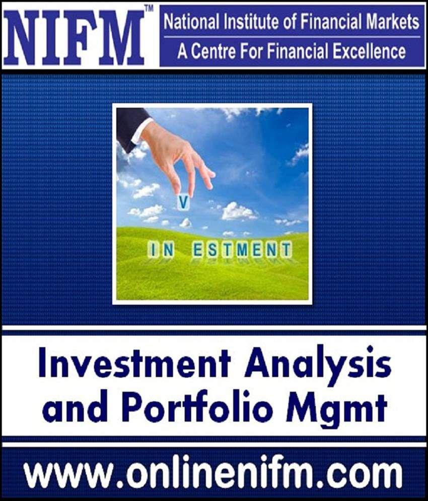 Nifm Investment Analysis Portfolio Management Online Nse Ncfm