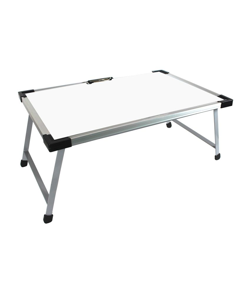 Radius Metal Foldable Table With White Board Top