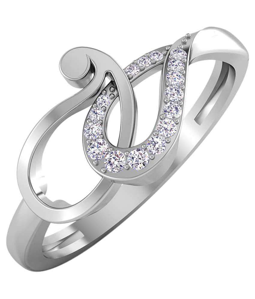Caratstyle 18kt White Gold Diamond Ring