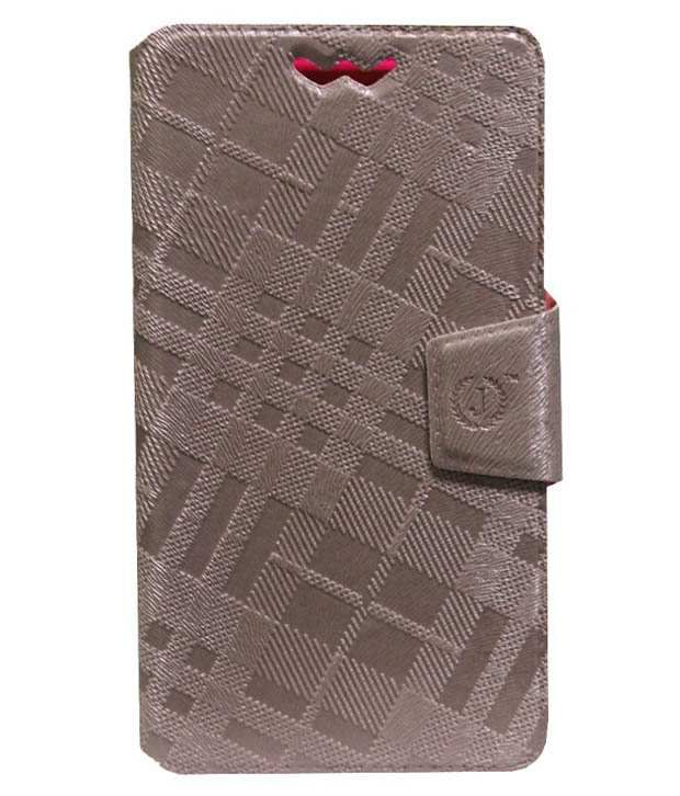 Jo Jo Synthetic Flip Cover For Sony Xperia E4 - Brown