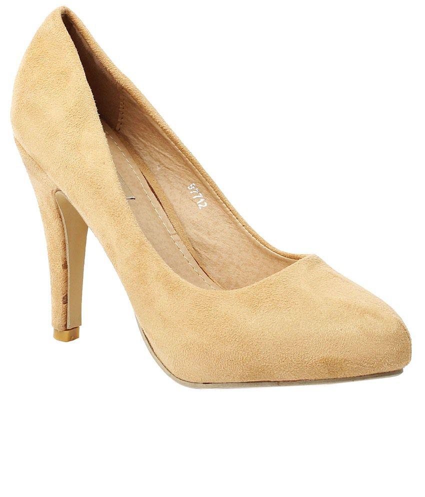 Foot Candy Beige Heels