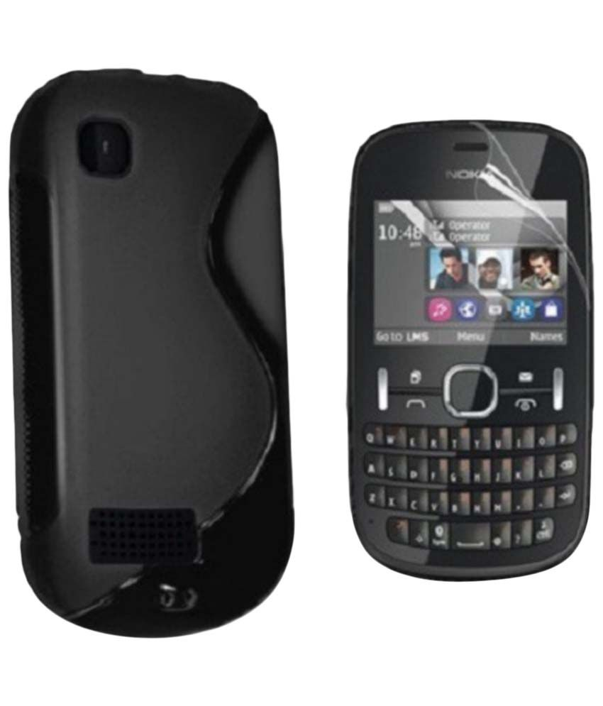 finest selection 5036d 85e72 S Case Black Back Cover for Nokia Asha 200