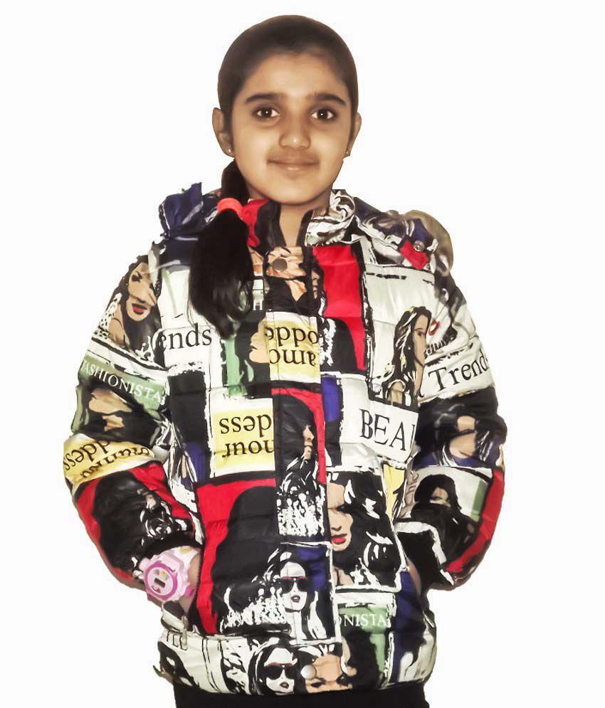 Aditya Multicolour Synthetic Jacket With Hood