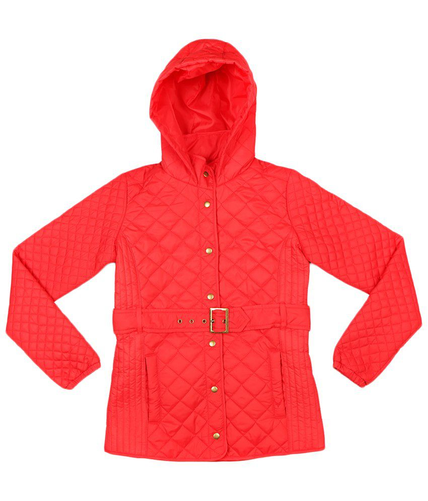 Allen Solly Red Full Sleeve Quilted Jacket