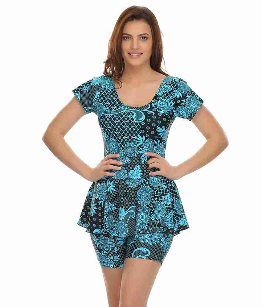 Clovia Frock Swimsuit In Trendy Prints/ Swimming Costume