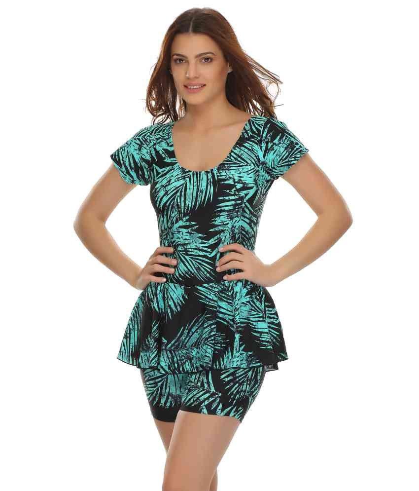 Clovia Frock Swimsuit In Trendy Prints/ Swimming Costume