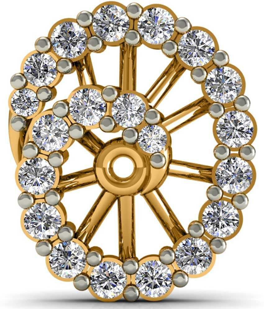 Diaonj Diamonds 18kt Golden Charisma Swirl Diamond Studs