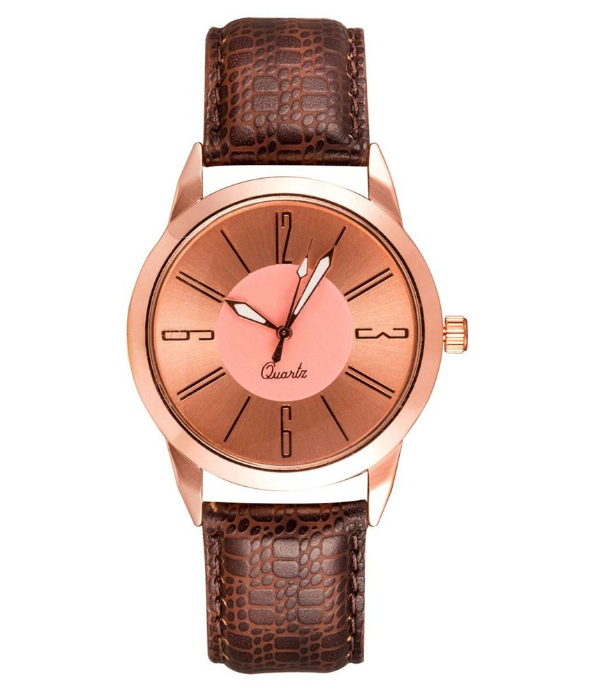 Fastrend Brown Analog Watch