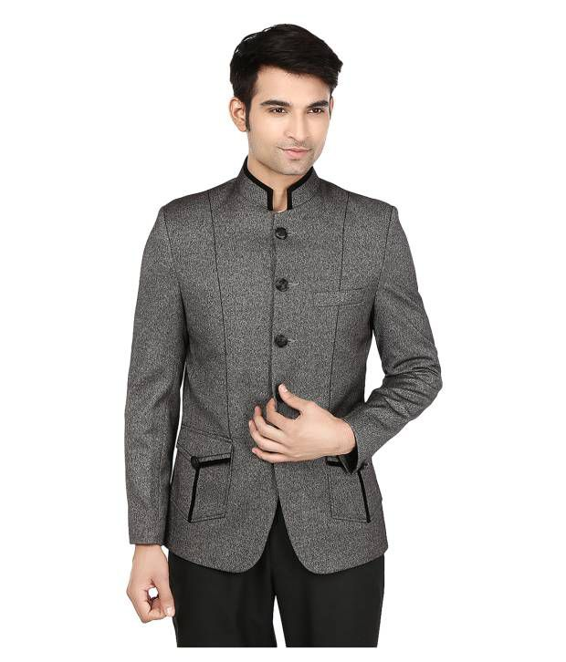 Platinum Studio Gray Poly Blend Formal Blazer
