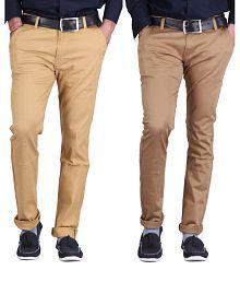 Ansh Fashion Wear Fashion Wear Multicolour Regular Fit Casual Combo Of 2 Chinos