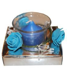 Fragrance Concoction Blue Candle With Cup