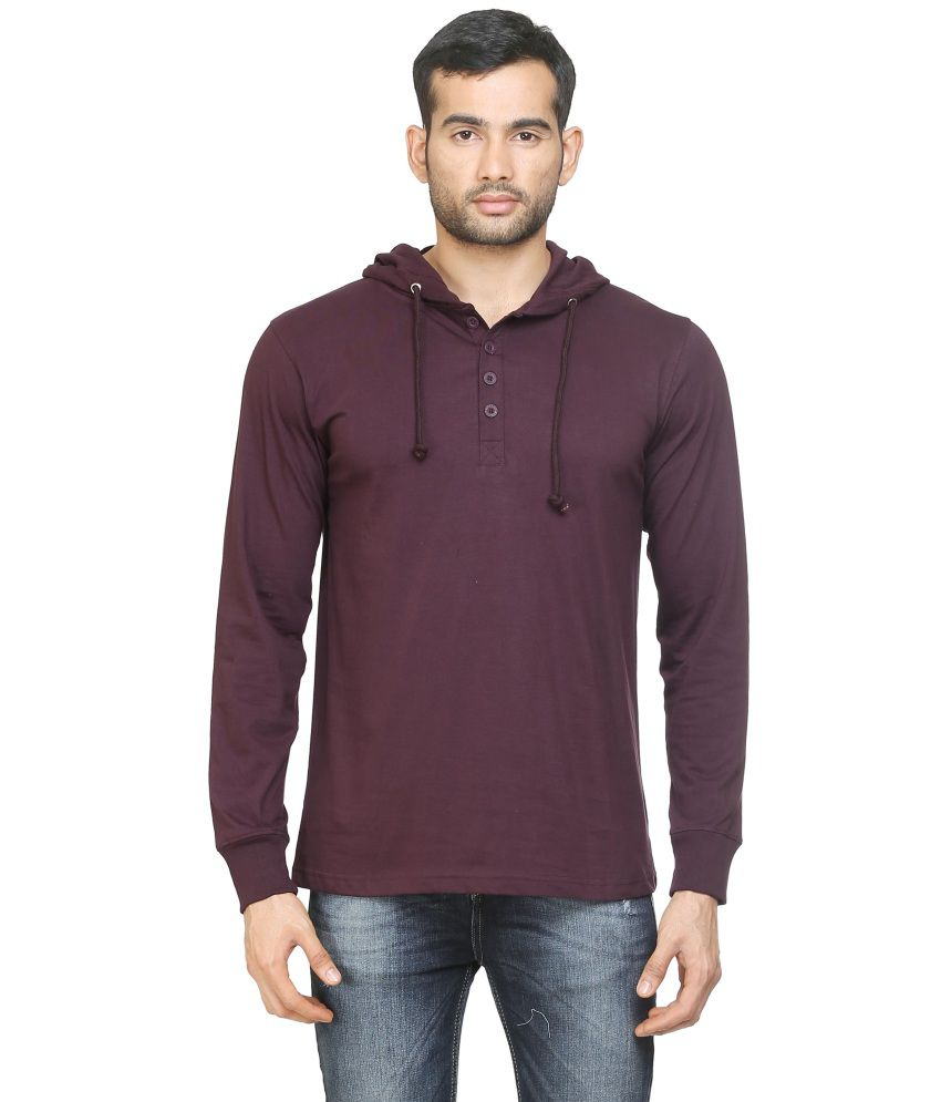 Poshuis Purple Cotton T-Shirt
