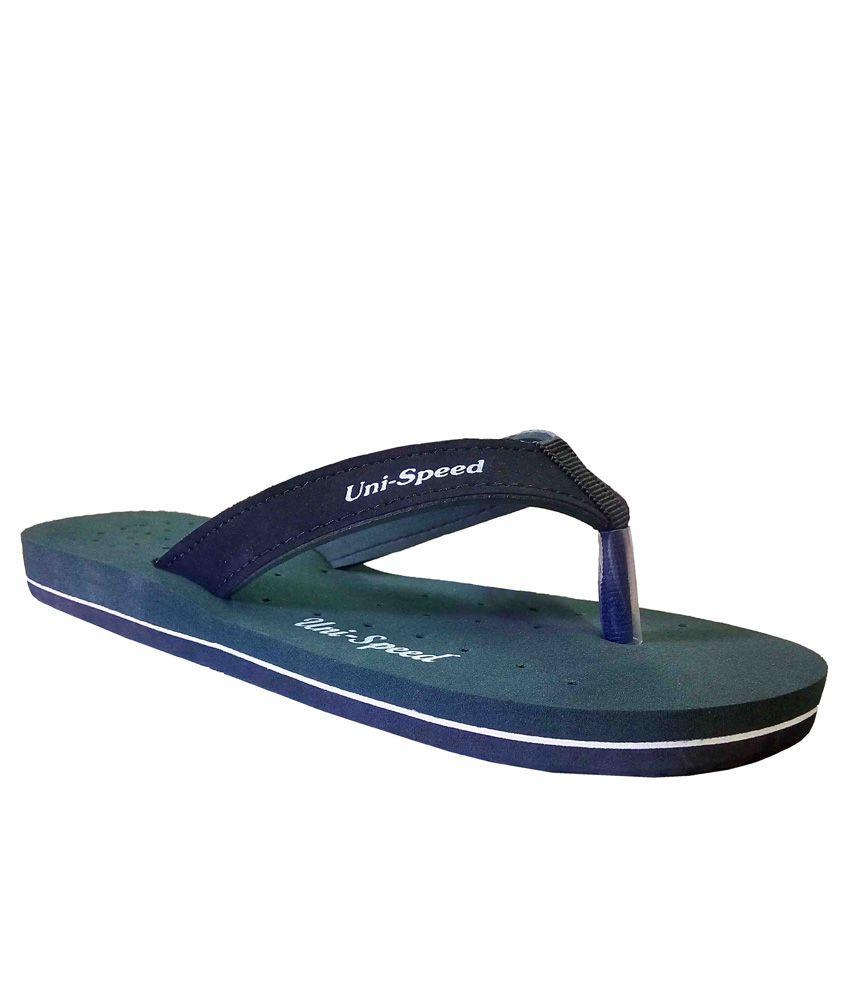 Unispeed Green Flip Flops