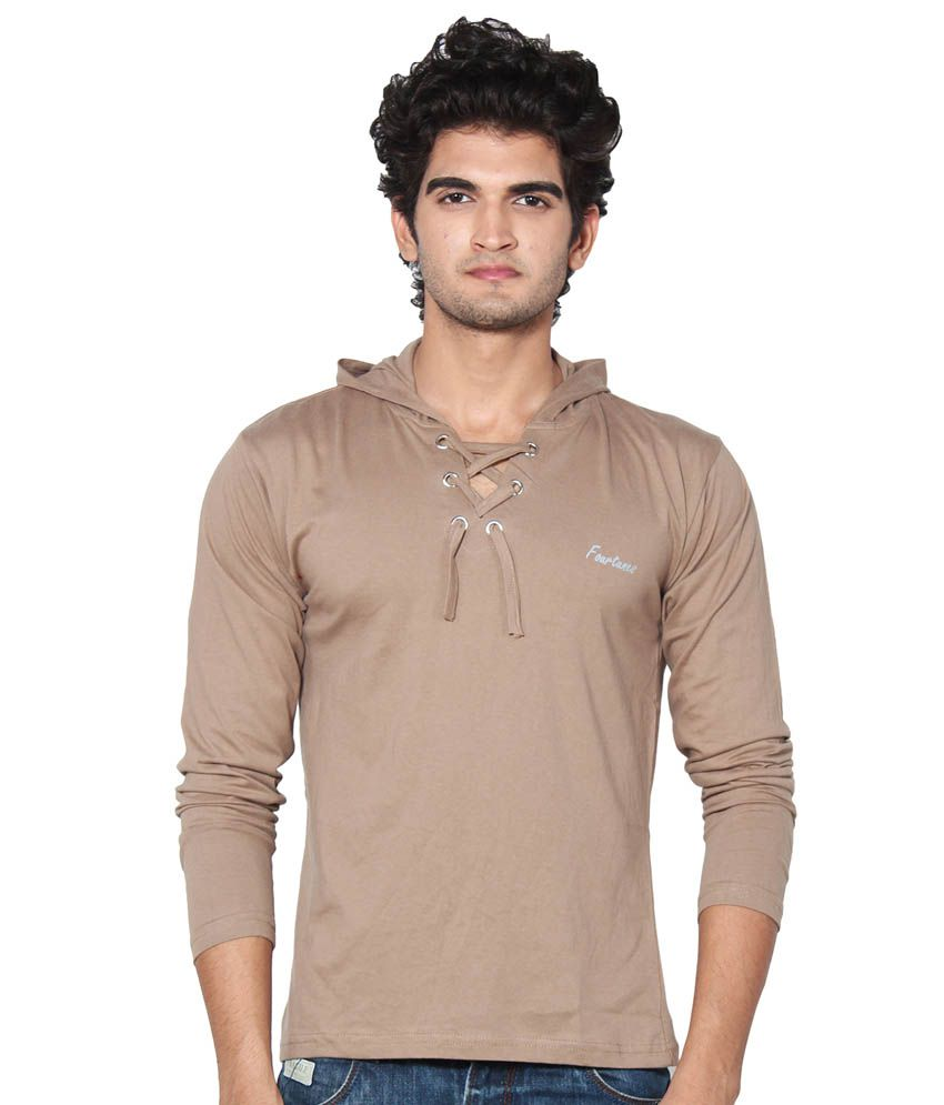 AMP Colors Brown Cotton T-Shirt