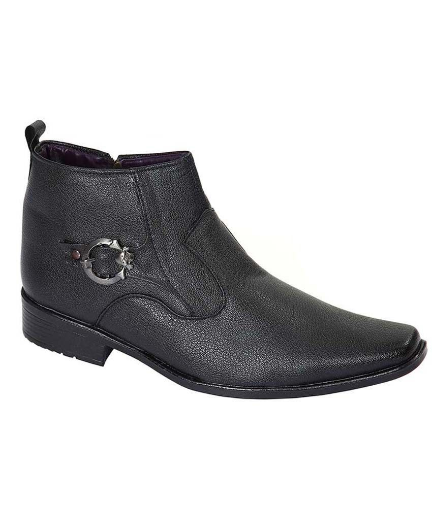 Louis Praiyo Black Leather Boots