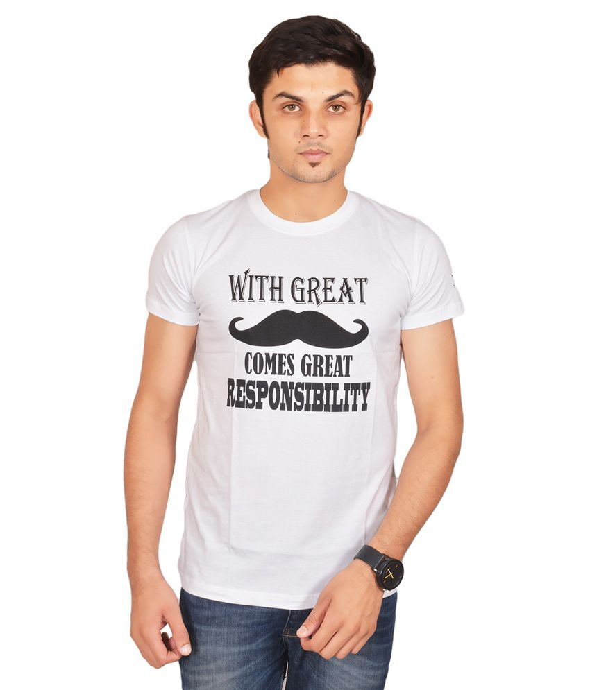 Swag Theory White Cotton T-Shirt