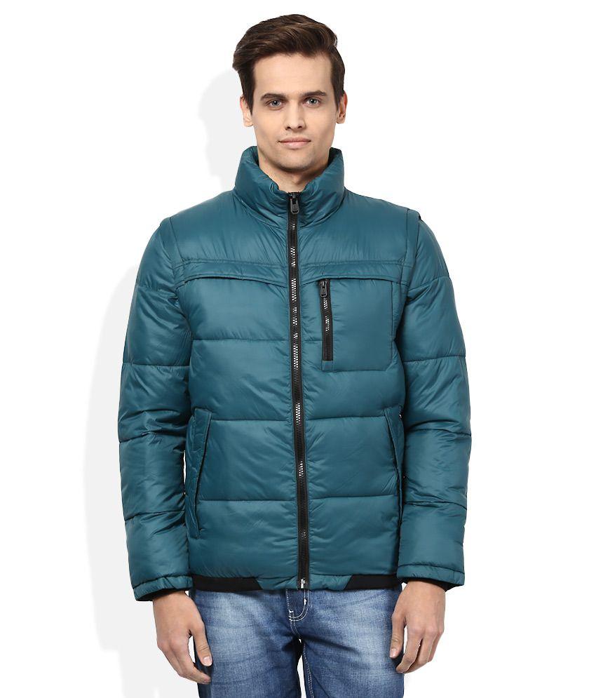 Jack & Jones Blue Full Sleeves Winter Jacket - Buy Jack