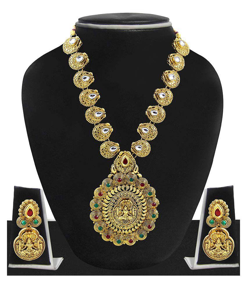 Zaveri Pearls Multicolor Alloy Designer Necklace Set