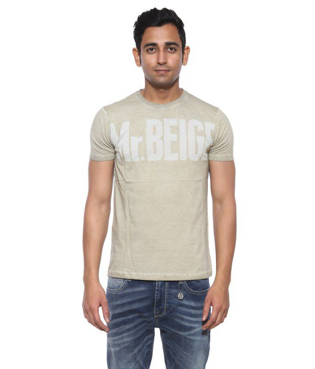 Pepe Jeans Beige Cotton T-Shirt