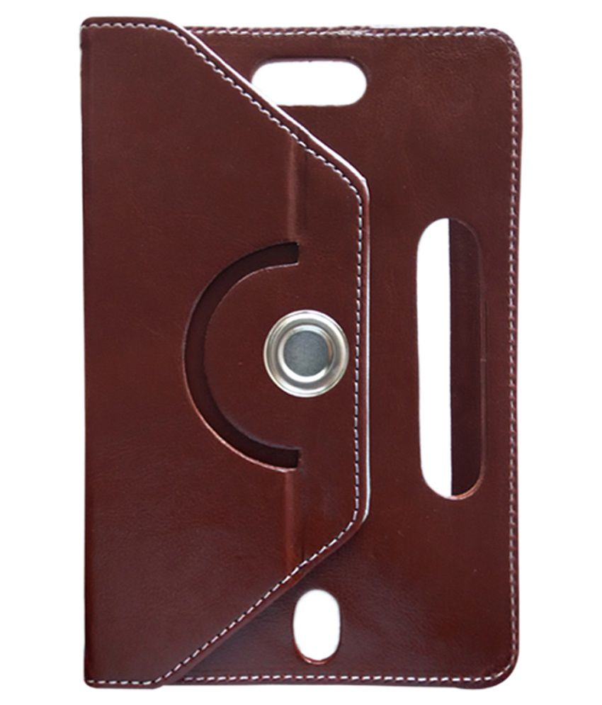 Fastway Flip Cover for Karbonn Ta-Fone A-34 HD - Brown