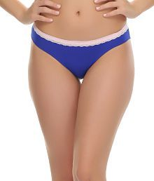 Clovia Trendy Bikini With Laces In Blue