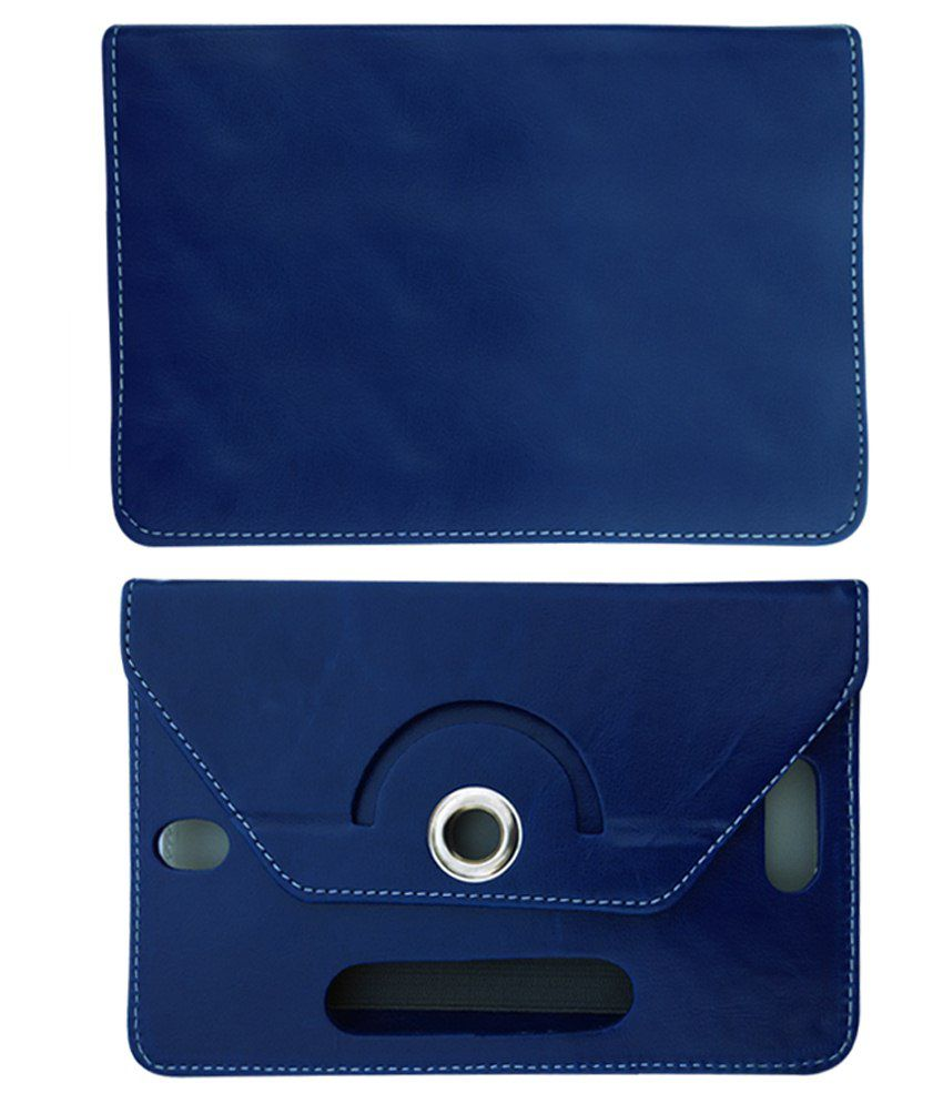 Fastway Flip Cover For Micromax Canvas Tab P690 8Gb 3G Calling Tablet-Blue